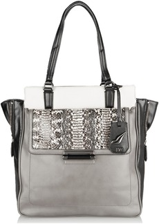 Diane von Furstenberg Highline leather and elaphe tote