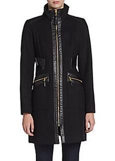 Via Spiga High-Collar Zip Coat