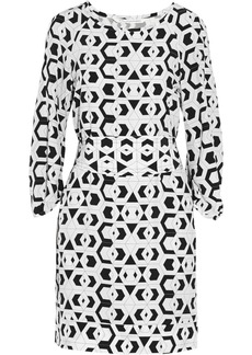 Diane von Furstenberg Eribec printed silk-georgette shift dress