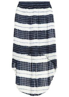 MICHAEL Michael Kors Pleated striped chiffon skirt