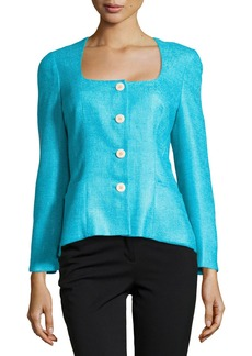 Lafayette 148 New York Elousie Woven Jacket, Pool