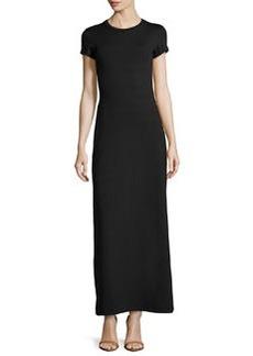 Susana Monaco Stretch-Jersey Maxi Shirtdress, Black