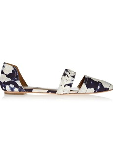 12th Street by Cynthia Vincent Eloise tie-dyed satin point-toe flats