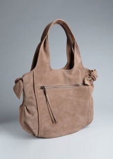 Kooba taupe suede bow detail 'Carmine' shoulder tote