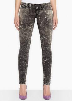 Levi's® Juniors' 524 Black Acid Wash Skinny Jeans