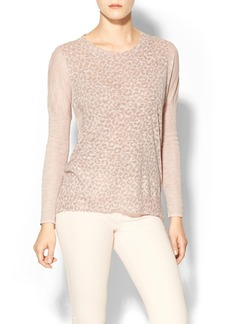 Rebecca Taylor Long Sleeve Leo Print Sweater