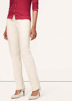 Doubleweave Cotton Fitted Straight Leg Pants in Julie Fit