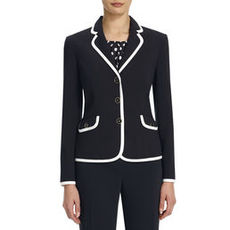 Jacket with Contrast Piping