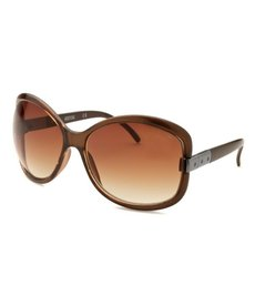 Kenneth Cole Reaction Women's Butterfly Brown Sunglasses