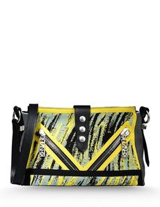 KENZO Lightweight sweater Multicolor Pattern Zip closure External pockets Internal pockets Adjustable shoulder straps Messenger bags Medium not made of fur