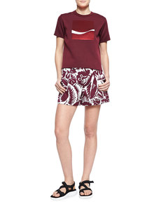 Marc Jacobs Hibiscus Printed Midi Shorts