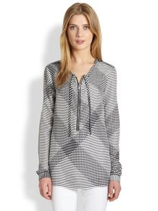 Burberry Brit Printed Silk Blouse