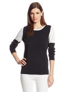 Calvin Klein Women's Colorblock Drop Shoulder Sweater