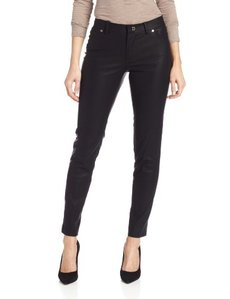 Calvin Klein Women's Faux-Leather skinny Pant