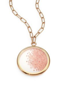 Tory Burch Glitter Crystal Pendant Necklace