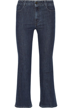 Stella McCartney Chloe cropped wide-leg jeans