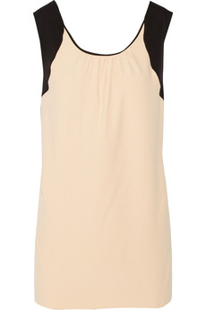 Chloé Two-tone crepe top
