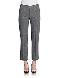 Marc Jacobs Plaid Wool Slim Trousers