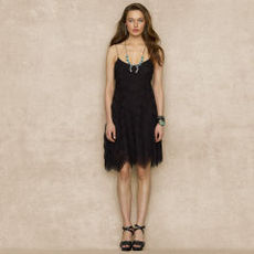 Ruffled Silk Chiffon Dress