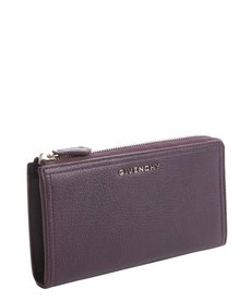 Givenchy aubergine leather zip around continental wallet