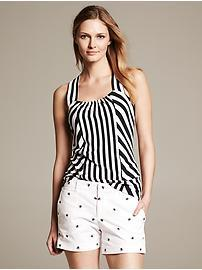 Bold Stripe Cross-Back Knit Tank