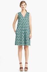 Lida Baday Print Scuba Knit Shift Dress