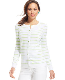 Charter Club Striped Cardigan