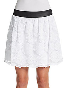 Kensie Flower Organza Skirt