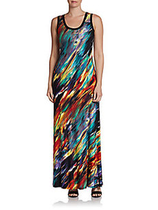 Calvin Klein Paint Splatter Maxi Dress