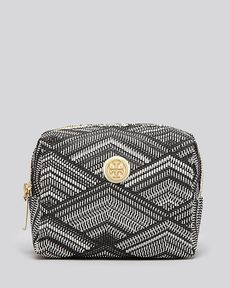 Tory Burch Cosmetic Case - Patterned Woven Brigitte