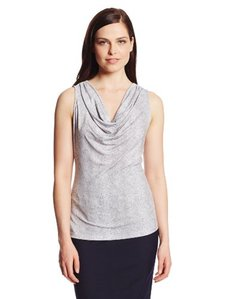 Calvin Klein Women's Printed Cowl Neck Top