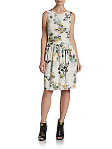 3.1 Phillip Lim Chiffon-Back Printed Silk Dress