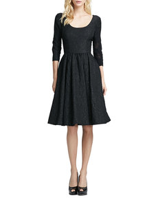 Tracy Reese 3/4-Sleeve Brocade Party Dress