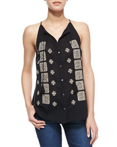 Joie Danielle Embroidered Tank Top