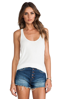 Rachel Pally Rib Racerback Tank in White