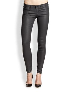 AG Adriano Goldschmied Absolute Legging Coated Skinny Jeans