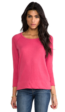 James Perse Vintage Cotton Pullover in Pink