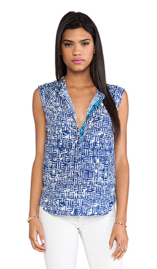 Ella Moss Kona Blouse in Blue