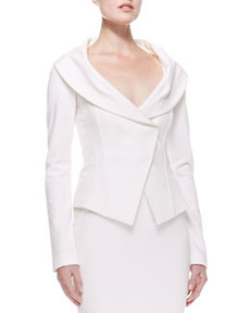 Off-the-shoulder Jacket, Ivory   Off-the-shoulder Jacket, Ivory