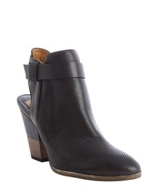 Dolce Vita black leather 'Henna' cutout accent booties