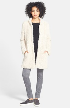 Kenneth Cole New York Faux Fur Jacket, Halogen® Sweater & Karen Kane Leggings