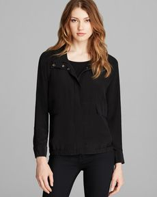 Eileen Fisher Stand Collar Bomber Jacket