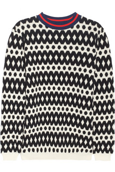 Marni Geometric wool-blend sweater