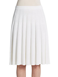 St. John Fluted Pleat Skirt