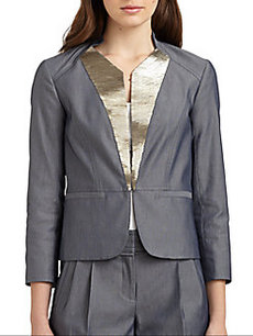 Robert Rodriguez Embellished Bird's-Eye Blazer