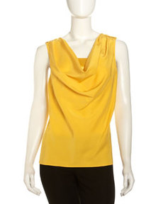 Lafayette 148 New York Jamie Matte-Silk Top, Sunburst