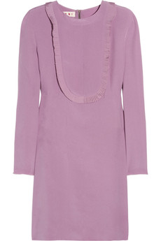 Marni Ruffle-trimmed silk dress