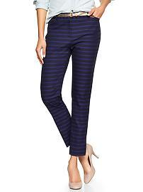 Slim cropped stripe pants
