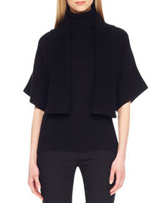 Rib-Trim Open Shrug   Rib-Trim Open Shrug