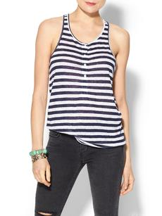 C&C California Sailboat Stripe Linen Jersey Tank